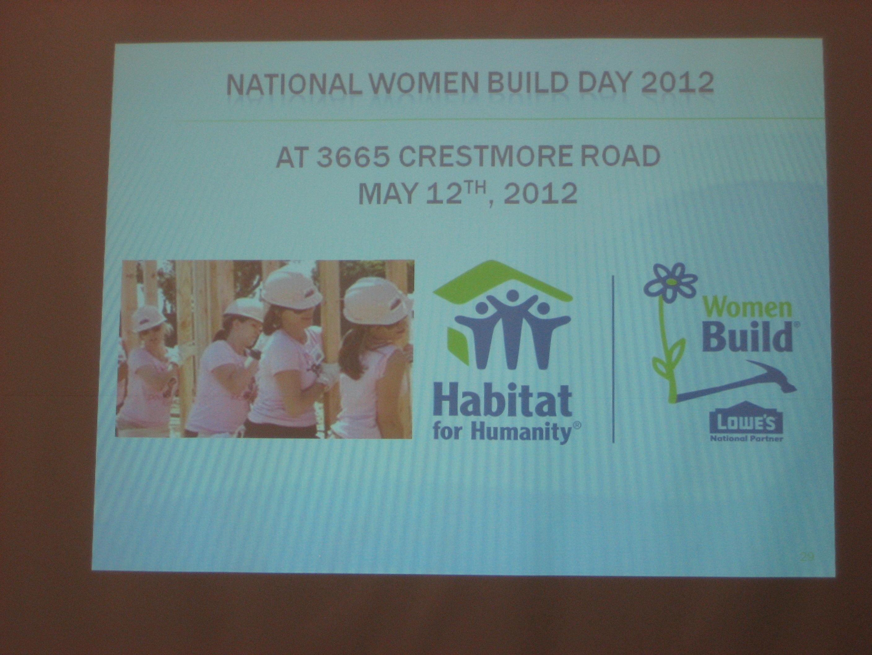Habitat\'s Women Build