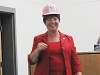 Mayor Roughton Accepts Women Build Invite w/Pink Hardhat