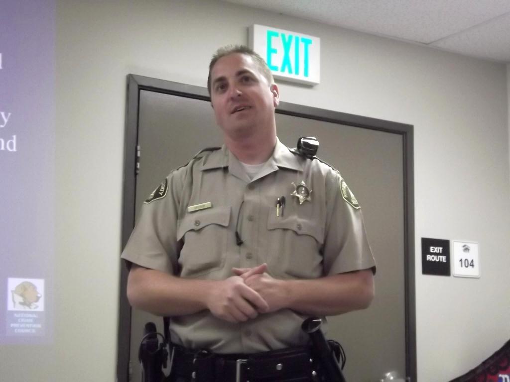 Deputy Cryder from the Riv. Co. Sheriff\'s Dept. Jurupa Station