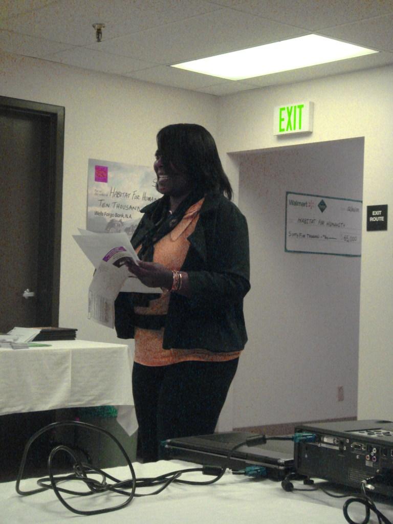 Katrina Lankster from Community Action Partnership\'s Dispute Resolution Center