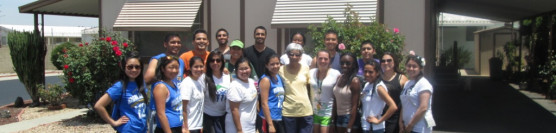 6/1/13: UCR Chapter and Beta Gamma Phi Honor Society come together to help a senior in need.