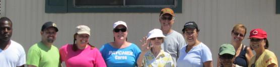 8/22/2013: Habitat Volunteers Help Paint First Home in Riverside Meadows