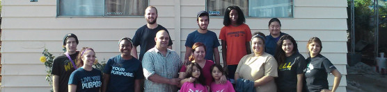 12/6/14: The Well Christian Club at UCR takes on a house for a family in need!