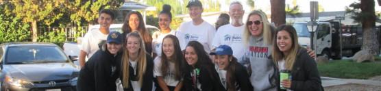 Centennial High School Volunteers on their First Project!