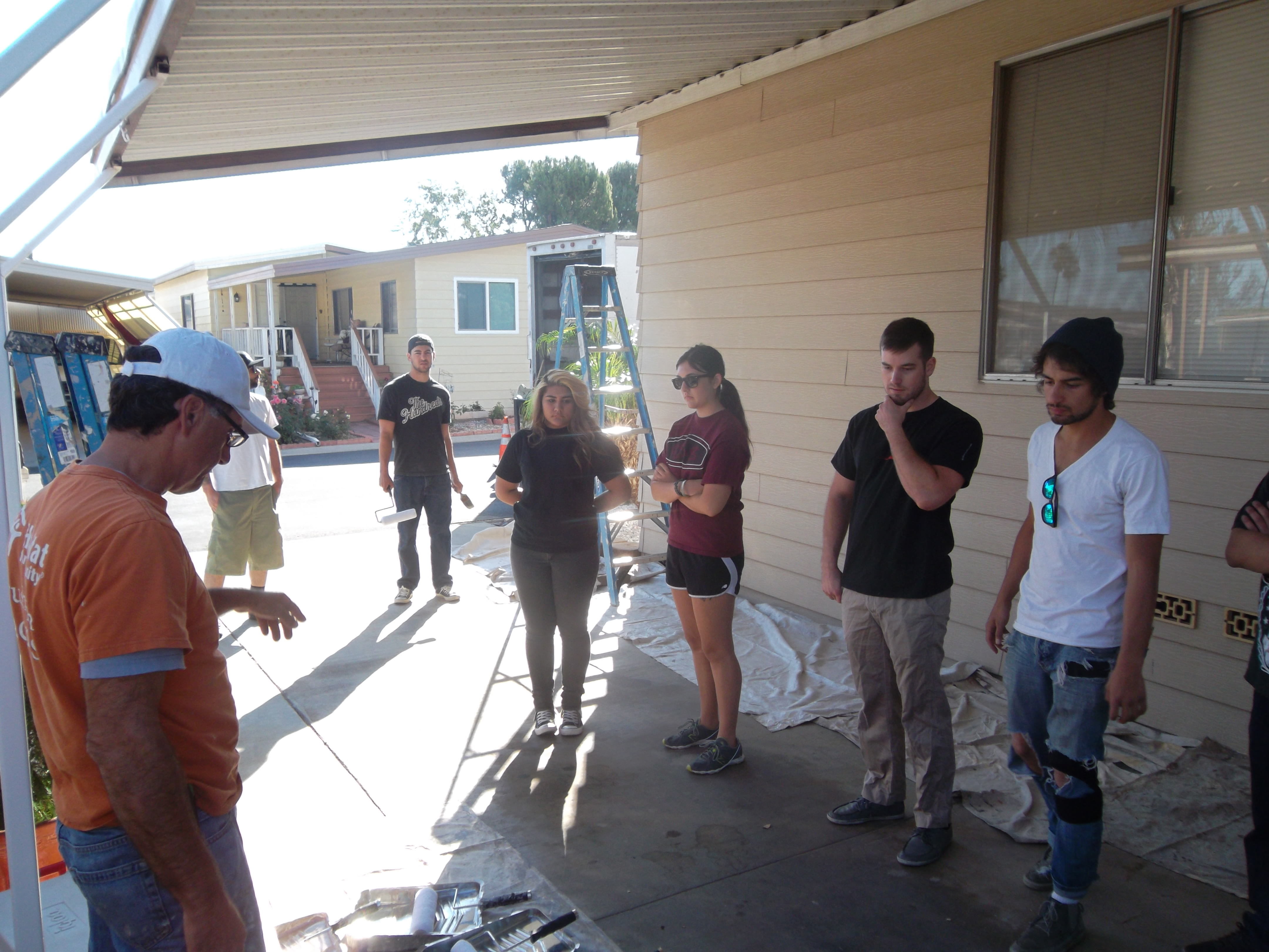 Partner With Habitats A Brush Kindness Project In The Village Riverside Mobile Home Park Their Mission Was To Paint Of Patti