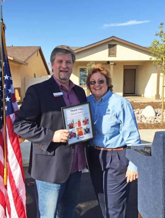 Roberts Way Dedication: BofA David Hahn and Kathy