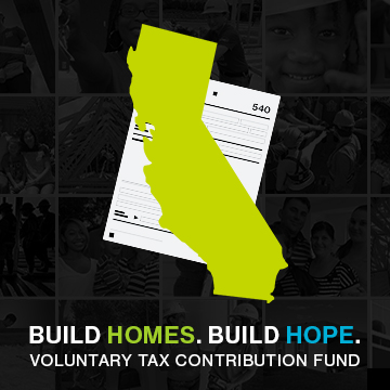 Turn your State Tax Return into Homes and Hope for California